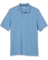 Amazon Essentials Polo en Coton piqué Coupe Droite Shirts - Bleu