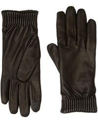 Calvin Klein Leather Gloves - Black