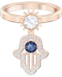 Swarovski Motif Symbolic Bague - Bleu