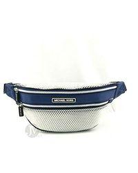 Michael Kors Sport Danika Mesh Waist Pack Fanny Belt Bag - Blue