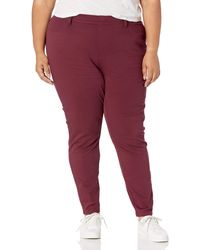 Amazon Essentials Plus Size Pull-on Knit Jegging - Red