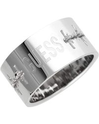 Guess Ring Stainless Steel Silver Umr11106 - Metallic