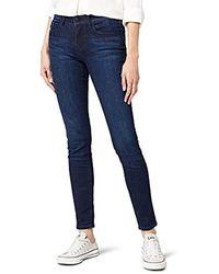 Calvin Klein Jeans Mid Rise Skinny - Wonder Dark, Mujer - Azul