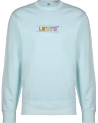 Levi's ® Graphic Crew B Sweater Garment dy Clearwater - Blu
