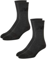 New Balance Athletic Cushion Comfort Crew Socks with Cooling Technology - Schwarz