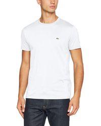 Lacoste TH6709, Camiseta para Hombre - Blanco