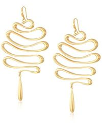 "Trina Turk - ""gold Rush"" Wavy Statement Drop Earrings - Lyst"