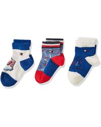Tommy Hilfiger TH Baby Rebel GIFTBOX 3P Chaussettes - Bleu
