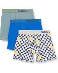 Sloggi Go Movember Short C3P Ropa interior - Azul