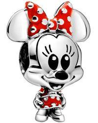 PANDORA - Pendentif Minnie Mouse avec robe et nœud à - Lyst