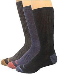 Rockport - Comfort Crew Sock, Black/charcoal/navy Assorted, Sock Size:10-13/shoe Size: 6-12 - Lyst