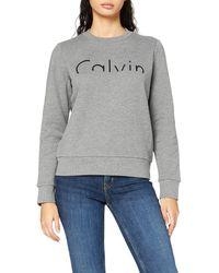 Calvin Klein Hadar CN HWK L/s Felpa - Grigio