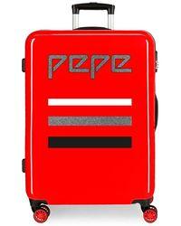 Pepe Jeans World Bagaglio a mano 55 centimeters 34 Rosso (Rojo)