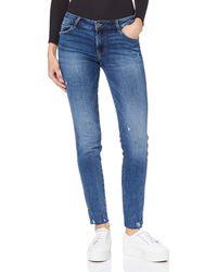 Guess Ultra Curve Split Skinny Jeans - Blau