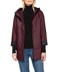 Dorothy Perkins 's Navy Raincoat Jacket - Red