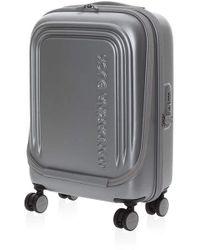 Mandarina Duck Trolley Rigido 55cm 4 Ruote Cabina   Logoduck +   P10SZV44466-Silver - Metallizzato