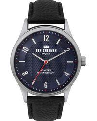 Ben Sherman S Analogique Quartz Montre avec Bracelet en Cuir WB025UB - Métallisé