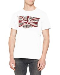 Pepe Jeans - Flag Logo T-shirt - Lyst