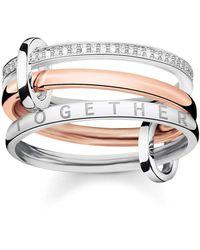 Thomas Sabo D_TR0034-095-7-54 anello - Multicolore