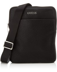 Guess Dan Pu Mini Flat Crossbody - Noir