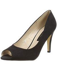 ea180556608 Dorothy Perkins Wide Fit Black  clover  Court Shoes in Black - Lyst