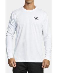 RVCA Sport Va Long Sleeve Tee White Medium