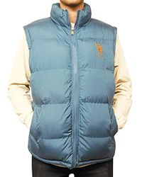 U.S. POLO ASSN. - Basic Puffer Vest With Large Pony Logo - Lyst