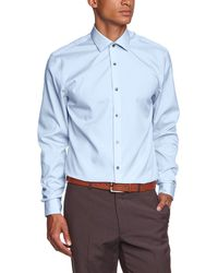 Calvin Klein Cannes Fitted FTC Camisa - Azul