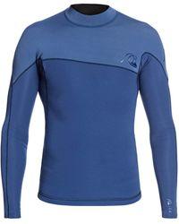 Quiksilver Long Sleeve Neoprene Surf Top - Blau