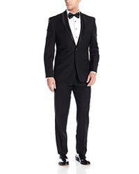 Vince Camuto - Slim Fit Tuxedo, Black Textured - Lyst