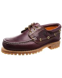 Timberland Authentics 3 Eye Classic, Chaussures Bateau Homme - Violet