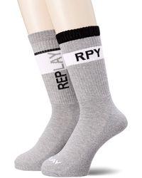 Replay Tennis Banderole Casual Sock - Grey