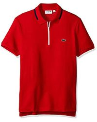 Lacoste - Made In France Zipper Placket Slim Polo, Ph2069-51 - Lyst