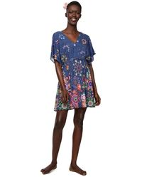 Desigual Dress Swimwear HARVIR Woman Blue, Vestido para Mujer, Azul (Navy 5000), L