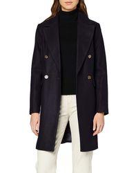 Dorothy Perkins Double Crombie Coat - Blue