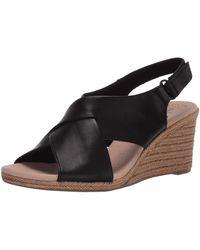 Clarks Keilabsatz-Sandale - Schwarz