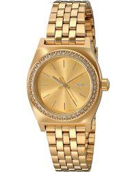 Nixon Small Time Teller Stainless Steel Watch - Metallic