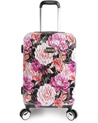 """Bebe Marie 21"""" Hardside Carry-on Spinner Luggage - Multicolor"""