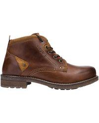 Wrangler 'S Hill Desert Cognac Leather Lace UP Boots WL92021A-10 UK 44 EU - Marrone