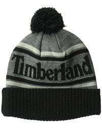 Timberland - Color Blocked Watchcap With Pom - Lyst