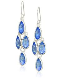 Kenneth Cole - Power Of The Flower Silver And Opal Chandelier Earrings - Lyst