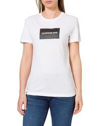 Calvin Klein Institutional Box Slim Fit tee Camiseta - Blanco