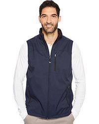 Izod - Reversible Vest With Polartec Fleece - Lyst