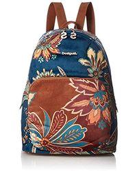 Desigual Discovery Lima Backpack Size: U Color: Blue