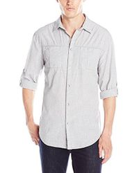 CALVIN KLEIN 205W39NYC - Jeans Convertible Heather Shirt - Lyst