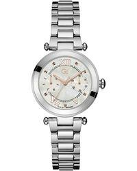 Guess Gc Collection Y06010L1MF Lady Chic Dames Horloge 32 mm - Métallisé