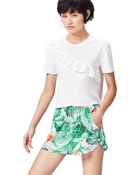 FIND Shorts Stampa Tropicale - Bianco