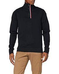 Tommy Hilfiger Global Stripe Zip Mock Sweat-Shirt - Noir