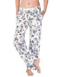 CALIDA Favourites Trend Pantaloni Pigiama - Bianco