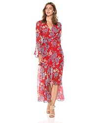 C/meo Collective - Unending Long Sleeve Wrap Dress Gown - Lyst